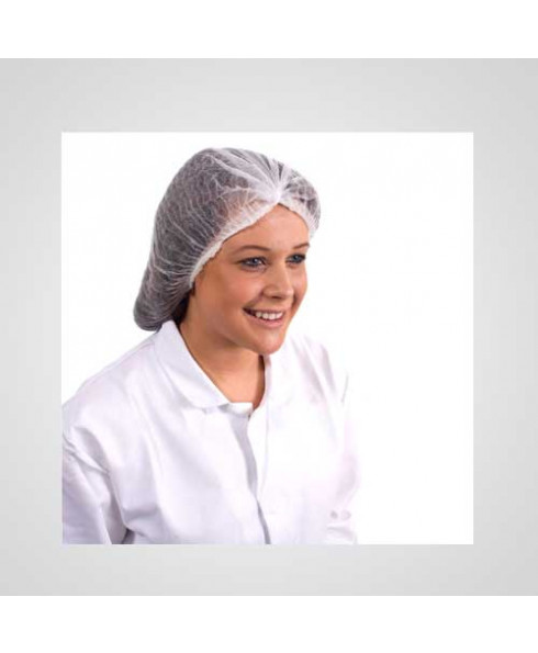 Axtry Disposable Non Woven Hair Net Cap White (Pack of 100 Pcs)