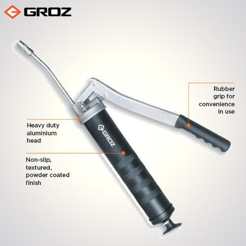 Buy-Groz 150 mm Steel Extension Heavy Duty Lever Grease  Gun-G1R/HD/B-industrykart.com