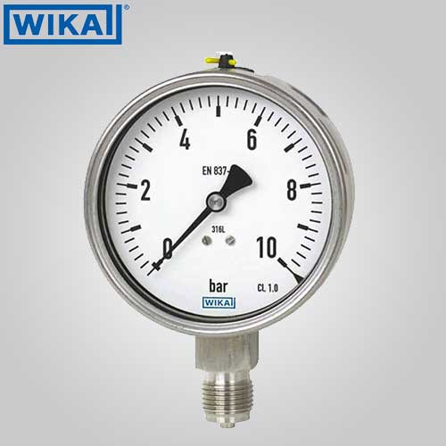 Buy Wika Pressure Gauge With Restrictor Screw Without
