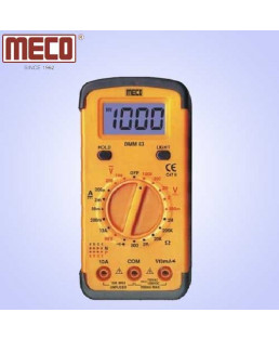 Meco 3½ Digit 1999 Count Manual Ranging Digital Multimeter with hFE Test and Backlight Display-63