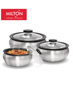 Milton Clearsteel  3Pcs Jr Gift Set Casserole