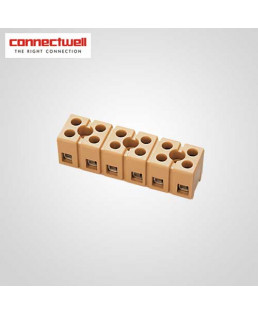 Connectwell 2.5 Sq. mm Multipole Strip Beige Terminal Block-CMST18W