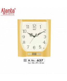 Ajanta 336X297X50mm Musical Plain Clock-637