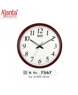 Ajanta 400X60mm Wooden Office Clock-7567