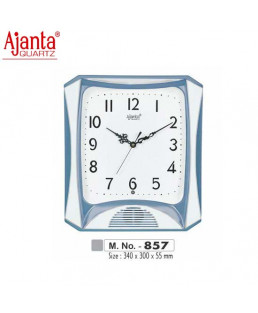 Ajanta 340X300X55mm Musical Plain Clock-857