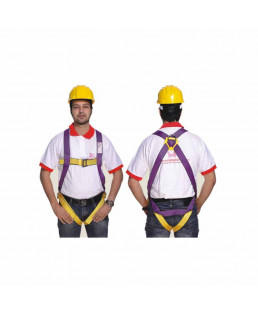 Alko Plus Full Body Harness: For Basic Fall Arrest (Class -A)(with APS 151 Double Rope 1.8 mtr.)-APS-451 (Pack Of 15)