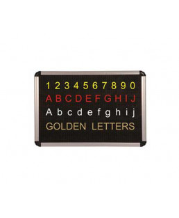 Asian 36mm Dotted Type Perforated Black Board-Alphabetic letters