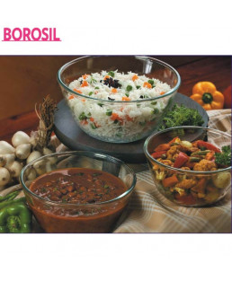 Borosil 0.5+0.9+1.3 Ltr Set Of 3 Mixing Bowls-IH22MB05913
