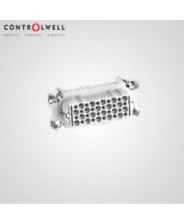 Controlwell Multipole Industrial Connectors, Female Contact Carriers For Rectangular Enclosures-W15FCC/10A10