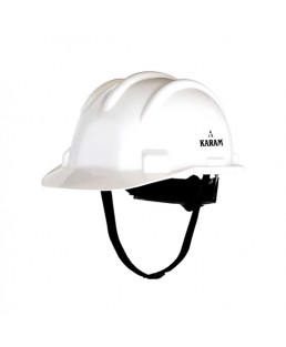 Karam White Safety Helmet(Shelmet) with Rachect-Type Adjustment