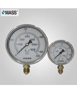 Mass Industrial Pressure Gauge 0-60 Kg/cm2 100mm Dia-100-GFB-B