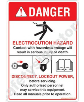 3M Converter 105X148 mm Danger Sign-DS302-A6V-01