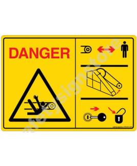 3M Converter 105X148 mm Danger Sign-DS402-A6V-01