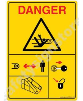 3M Converter 105X148 mm Danger Sign-DS404-A6V-01