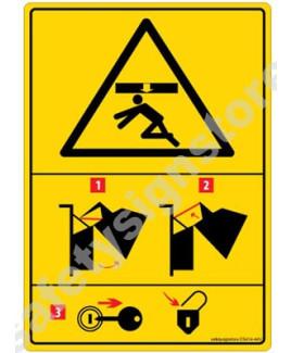3M Converter 105X148 mm Danger Sign-DS414-A6V-01
