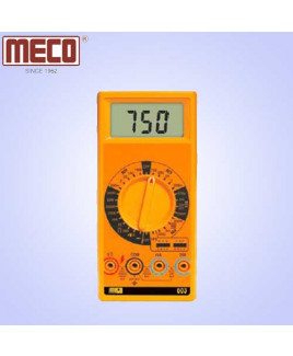 Meco 3½ Digit 1999 Count Manual Ranging Digital Multimeter with hFE Test Function-603