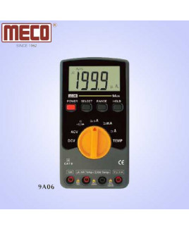 Meco 3½ Digit 1999 Count Auto/Manual Ranging Digital Multimeter with Temperature Prob-9A06