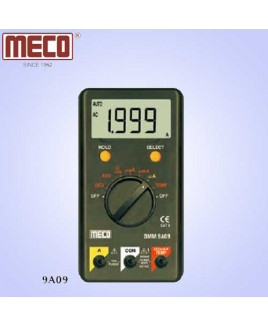 Meco 3½ Digit 1999 Count Auto/Manual Ranging Digital Multimeter with Temperature Prob-9A09