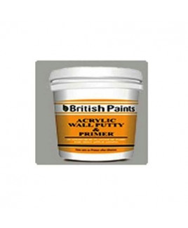 British Paints Acrylic Wall Putty Cum Primer (Poly Bucket) (1 Kg.)