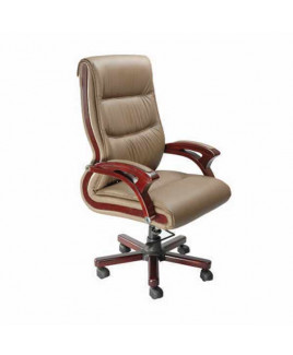GEEKEN Wooden Arms High Back Executive Chair-GP-103