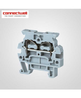 Connectwell 2.5 Sq. mm Spring Clamp Grey Terminal Block-CMS2.5