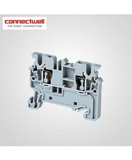 Connectwell 2.5 Sq. mm Spring Clamp Grey Terminal Block-CX2.5