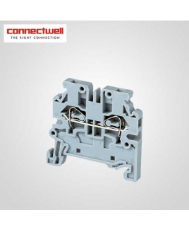 Connectwell 4 Sq. mm Spring Clamp Grey Terminal Block-CXS2.5