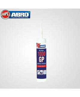 Abro 260ml General Purpose Silicon Sealante (GP-1000, WHITE)
