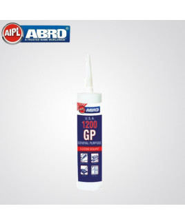 Abro 280ml General Purpose Silicon Sealante (GP-1200, CLEAR)