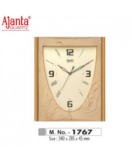 Ajanta 340X285X45mm Fancy & Plain Clock-1767