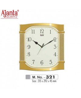 Ajanta 315X292X45mm Fancy & Plain Clock-321