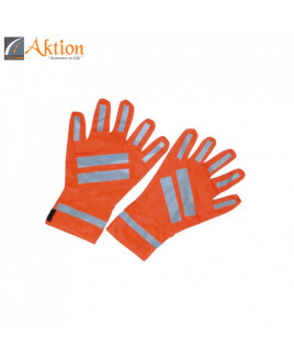 AKTION Glass Bids Reflective Tape Safety Glove-AK 614
