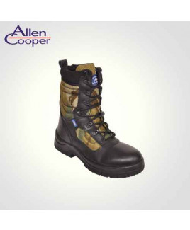 Allen Cooper Combat Boot PVC Toe  Size 6 Safety Shoes- AC 1228