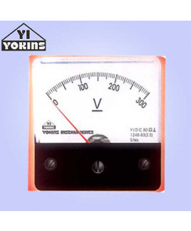 Yokins 50mV-500V Moving Coil Analog Panel Voltmeter-DCF70