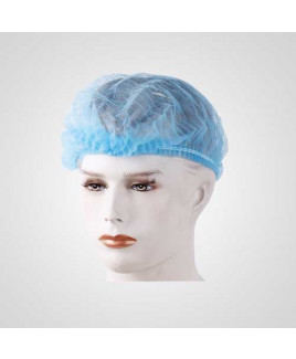 Axtry Disposable Non Woven Hair Net Cap Blue (Pack of 100 Pcs)