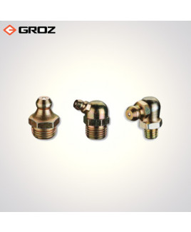 "Groz 1/8""X 28 Bspt - Taper Thread(Grease Fittings)-GFT/R/1-8/28/90"