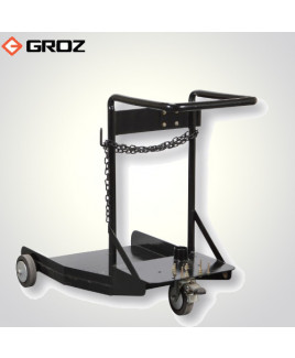 Groz 181 kg/205 litre Trolley For Portable Oil / Grease Systems-TRL/180D