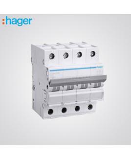 Hager 4 Pole 40A MCB-NDN440N