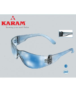 Karam Construction Workers Choice white Safety Goggle-ES 001