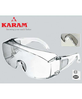 Karam Prescription-Glasses Wearer's Choice white Safety Goggle-ES 007