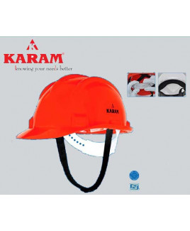 Karam Nap Type Orange Safety Helmet-PN 501