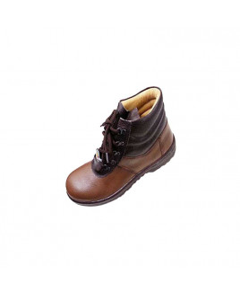 Liberty Size-10 Warrior Brown Leather Safety Shoes-7198-02