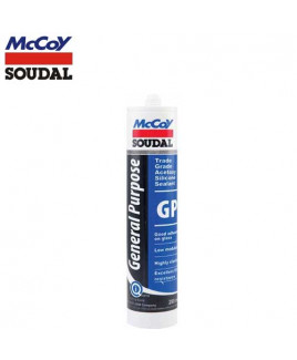 McCoy Soudal 260ml GP Acetoxy Silicone Sealant-White (Pack Of 24)