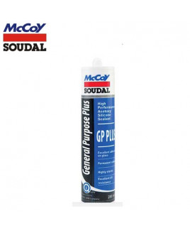 McCoy Soudal 280ml GP Plus Acetoxy Silicone Sealant-White (Pack Of 24)