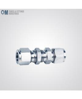 Om Tubes Stainless Steel 304 Bulkhead Union Tube Fittings 25mm  (Pack of 2)-OTFI-TF-BU-25MT-304