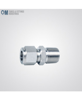 Om Tubes Stainless Steel 304 Male Connector Tube Fittings 25mm x 3/4NPT (Pack of 3)-OTFI-TF-MC-25MT-3/4NPT-304