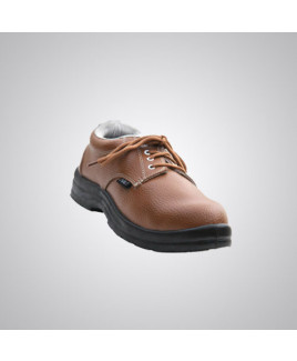 Polo PVC Moulded Tan Safety Shoes Size: 6