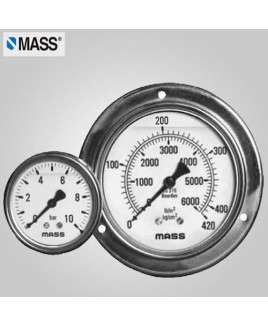 Mass Industrial Pressure Gauge (without filling) 0-1000 Kg/cm2 100mm Dia-100-GFS-A