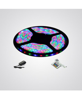 Ryna Multi Colour LED Strip Light SMD RGB With LED Driver and Remote-5 Meters (Water Proof)-Pack Of 1