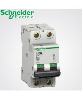 Schneider 2 Pole 6A MCB-A9N2P06C